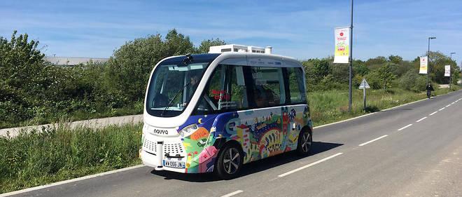 À Nantes, une navette autonome a été testée en circulation réelle entre mars et mai 2019.