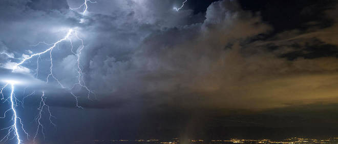 Un orage dans le Jura (illustration).