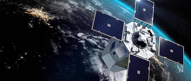 Vue d'artiste du satellite militaire français CSO-1, lancé en décembre 2018.