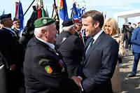 Emmanuel Macron a rendu hommage aux 177 fusiliers marins du commando Kieffer.