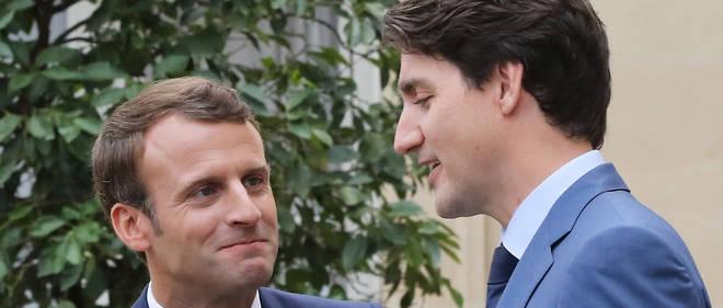 Emmanuel Macron et Justin Trudeau ont tenu une conférence de presse en commun à l'Élysée.
