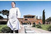 Christophe Bacquié, chef du restaurant qui porte son nom à l'hôtel du Castellet dans le Var.