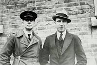 Arthur Whitten Brown et John Alcock, en 1919, année de leur traversée de l'Atlantique.