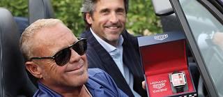 Chad McQueen, le fils de Steve McQueen, aux 24 Heures, avec l'acteur et pilote Patrick Dempsey, encore sur la piste cette année.  ©LPM