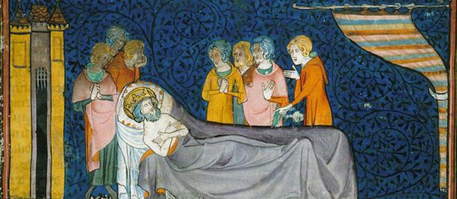 Louis IX est mort à Tunis le 25 août 1270. Il a été inhumé dans la basilique de Saint-Denis le 22 mai 1271. Mais son crâne a été transféré en 1306 à la Sainte-Chapelle.