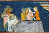 Louis IX est mort a Tunis le 25 aout 1270. Il a ete inhume dans la basilique de Saint-Denis le 22 mai 1271. Mais son crane a ete transfere en 1306 a la Sainte-Chapelle.