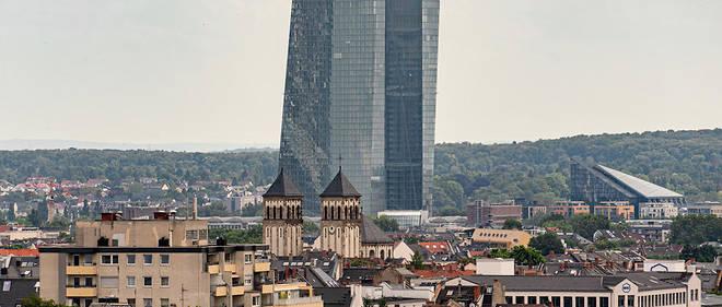 La BCE (photo) ne considère pas les crypto-monnaies comme des monnaies.