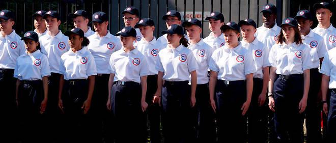 Des jeunes faisant leur service national universel, le 17 juin.