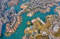 Vue aérienne d'une écoville en Chine.Les villes feront face à des défis grandissants.
