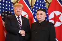 Donald Trump et Kim Jong-un lors de leur sommet à Hanoï, le 27 février.