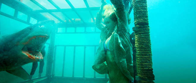 Une scene de Shark Night 3D (2011), de David R. Ellis.