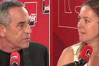 <pre>Thierry Ardisson et Charline Vanhoenacker, sur France Inter.</pre>