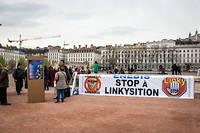 Manifestation du mouvement « stop Linky » en 2017, à Lyon.
