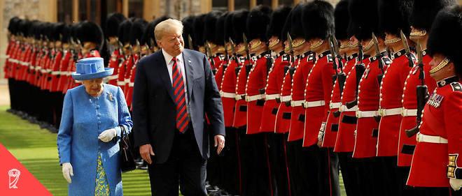 Elizabeth II et Donald Trump au château de Windsor, le 13 juillet 2018.