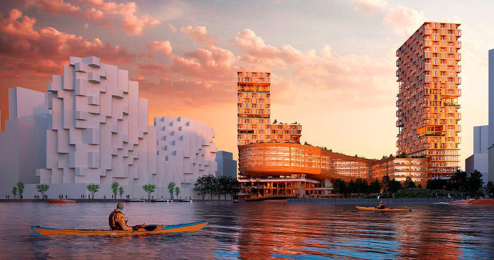Matériau recyclable. La majorité des immeubles de Quayside auront des structures en bois, même ceux de grande hauteur.
