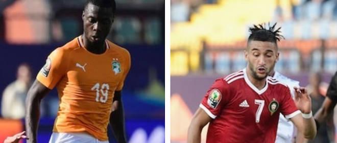 Le Marocain Hakim Ziyech (à gauche) et l'Ivoirien Nicolas Pépé : deux étoiles à suivre lors de cette CAN 2019.