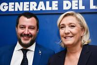 Le groupe Identité et démocratie a tout juste été fondé par Matteo Salvini et Marine Le Pen.