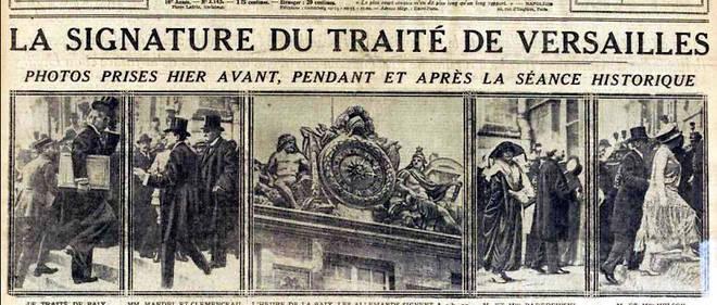 Traité de Versailles : l'insatisfaction des Français - Le Point