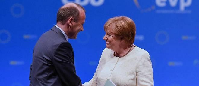 Angela Merkel et Manfred Weber à Munich le 29 mai 2019.