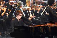Alexandre Kantorow lors de la 26e cérémonie des Victoires de la musique classique en 2019.