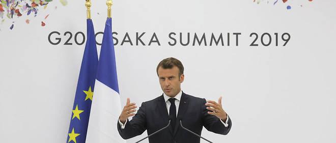 Emmanuel Macron s'est exprimé à l'issue du G20, à Osaka.