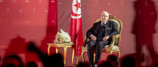 Le president tunisien Beji Caid Essebsi a Tunis, le 6 avril 2019.