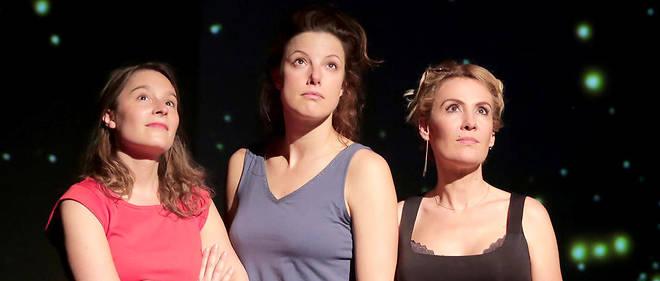 Anne Plantey, Noémie Delattre et Hélène Degy dans «Des plans sur la comète», au théâtre Actuel d'Avignon.
