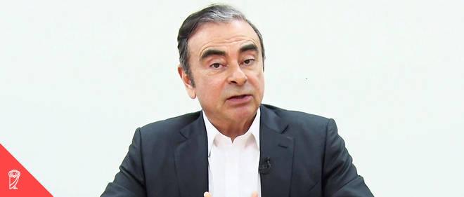 Capture d'écran de la vidéo de Carlos Ghosn diffusée le 9 avril 2019.