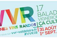 Les 31 août et 1erseptembre, la 16eédition de VVR revient en Val  de Loire avec 17 randonnées dans les vignes en compagnie des 400  vignerons participants.