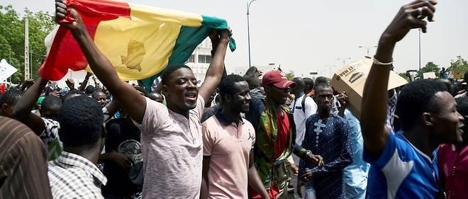 Manifestation à l'appel du Haut Conseil islamique, à Bamako, le 5 avril 2019.