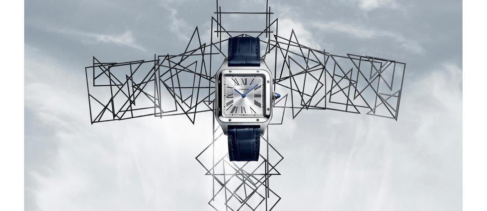 <p>Cartier relance son iconique Santos-Dumont, première montre-bracelet  créée en 1904. Une pièce en acier, or et acier ou or, avec un  calibre quartz.</p>