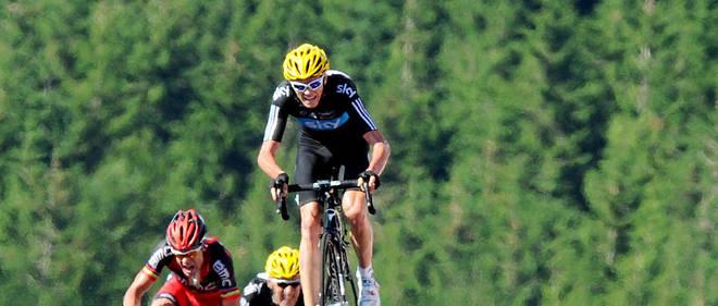 En 2012, lors de la première ascension du sommet des Vosges, Chris Froome montre qu'il est le coureur le plus fort du peloton.