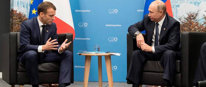 Emmanuel Macron reçoit lundi Vladimir Poutine au fort de Brégançon, une semaine avant le G7 d'où la Russie a été exclue.
