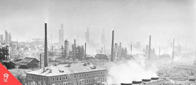 Alors que Khrouchtchev voulait faire de l'Union soviétique une grande puissance pétrochimique, ses successeurs se contentent d'exporter du pétrole brut, puis du gaz. Ici, la raffinerie de Novo-Ufimsky en 1968.