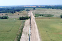 En Allemagne, travaux de construction de l'Eugal  (European Gas Link Pipeline).