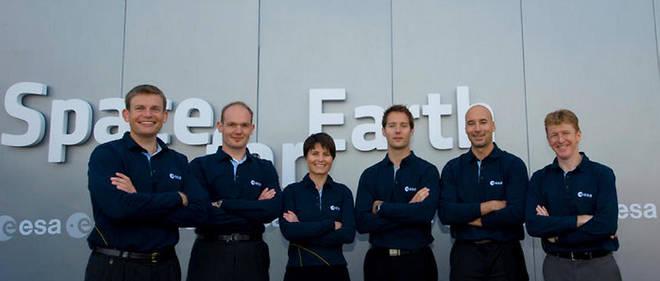 L'équipe des astronautes européens, sélectionnés en 2008.