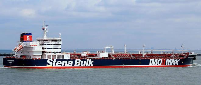 Le « Stena Impero» en avril 2018.