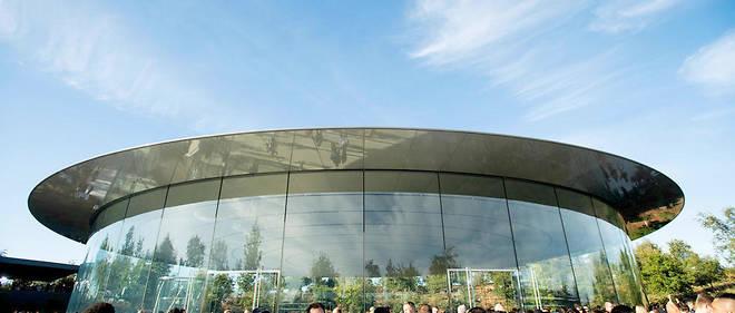 L'amphithéâtre Steve Jobs au siège d'Apple à Cupertino.