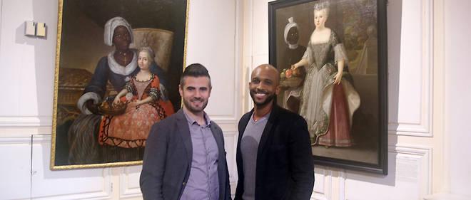 """Les deux auteurs de """"Noirs : entre peinture et histoire"""", Grégoire Fauconnier (à gauche) et Naïl Ver-Ndoye."""