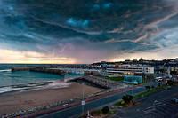 Un ciel orageux en Normandie. (Photo d'illustration.)