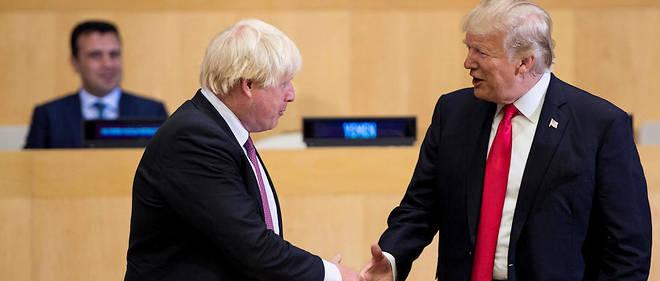 Boris Johnson et Donald Trump à l'ONU le 18 septembre 2017.