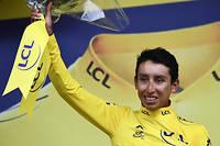 Egan Bernal a endossé le maillot jaune à deux étapes de l'arrivée du Tour de France.