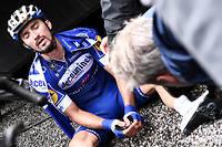 Julian Alaphilippe à l'arrivée de l'avant-dernière étape de ce 106e Tour de France.