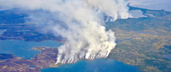 Des incendies dans les Territoires du Nord-Ouest, au Canada, en 2014. Photo d'illustration.