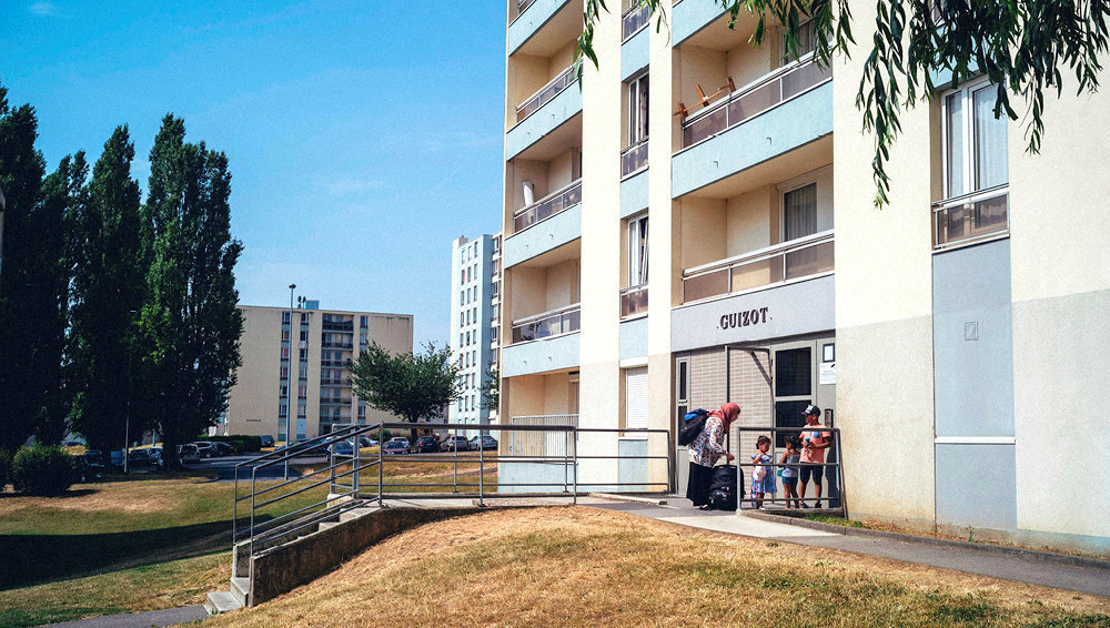 Bureau. Le quartier des Ecrivains, à Maubeuge. La liste de l'UDMF y a obtenu 41% des votes.