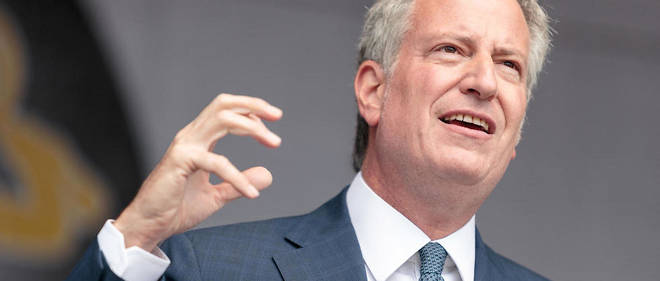 Le maire de New York, Bill de Blasio