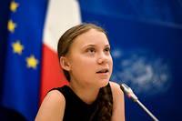 Greta Thunberg à l'Assemblée nationale le 23 juillet 2019.