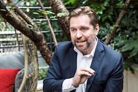 Éric Léandri, patron et fondateur du moteur de recherche européen Qwant, qui prévoit de lancer Qwant mail, au dernier trimestre 2019.