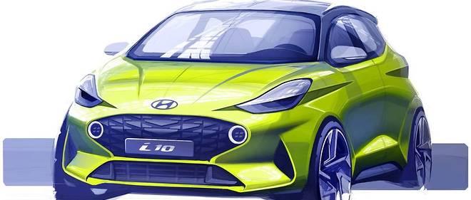 Le dessin de style de la future Hyundai i10 est prometteur
