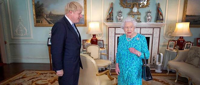 Elizabeth II reçoit Boris Johnson juste après son élection au poste de Premier ministre le 24 juillet 2019.